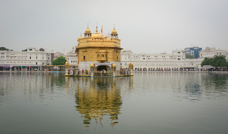 Golden Temple (Sri Darbar Sahib) in Amritsar, India. The Temple, is the holiest Gurdwara of Sikhism, located in the city of Amritsar.