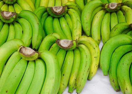 Close-up of banana fruits at rural market in Bangkok, Thailand. Stock Photo
