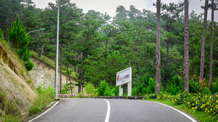 curve road: Mountain road in Dalat, Vietnam. Dalat is a city located on Lang Biang highlands, part of the Central Highlands of Vietnam.