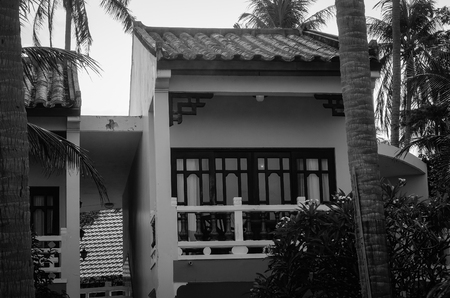 inground: Phan Thiet, Vietnam - Jun 3, 2017. Cottages at luxury resort in Phan Thiet, Vietnam. Phan Thiet belongs to Binh Thuan province and located 200km South of Cam Ranh Bay.