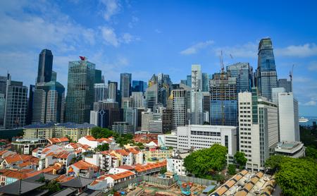 Singapore - Jun 12, 2017. Cityscape of Singapore. Singapore has a highly developed market economy, based historically on extended entrepot trade.