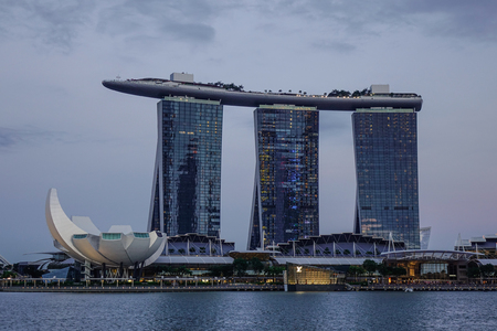 capita: Singapore - Jun 12, 2017. Marina Bay at twilight in Singapore. Singapore is one of the original Four Asian Tigers, but has surpassed its peers in terms of GDP per capita.