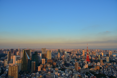 Tokyo, Japan - Sep 29, 2017. Cityscape of Tokyo, Japan. Over 500 years old, Tokyo only truly began to grow when it became the seat of the Tokugawa shogunate in 160.