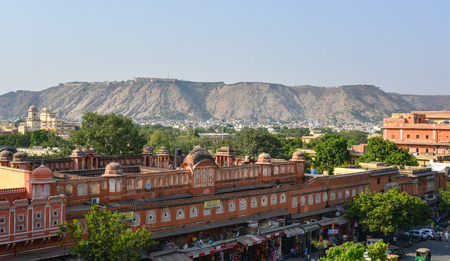 Jaipur, India - Nov 1, 2017. Cityscape of Jaipur (called Pink City), India. As of 2011, the city has a population of 3.1 million, making it the tenth most populous city in India.
