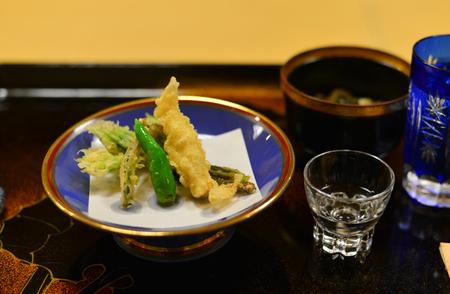 Tempura for dinner at local restaurant in Akita, Japan.
