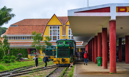 Dalat, Vietnam - Nov 25, 2017. Old railway station in Dalat, Vietnam. The station was designed in 1932 by French architects Moncet and Reveron, and opened in 1938.