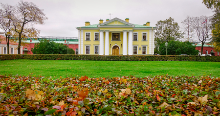 St. Petersburg, Russia - Oct 14, 2016. Old buildings in Saint Petersburg, Russia. St Petersburg is inscribed on the UNESCO list as an area with 36 historical architectural complexes. Editorial