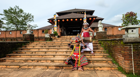 Colombo, Sri Lanka - Sep 8, 2015. A folk dancing show at temple in Colombo, Sri Lanka. Colombo is the financial centre of the island and a popular tourist destination.