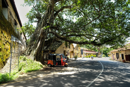 Colombo, Sri Lanka - Sep 5, 2015. View of rural road at summer in Colombo, Sri Lanka. Colombo is the largest city and the financial and commercial capital of Sri Lanka. Editorial