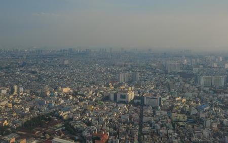 Saigon, Vietnam - Dec 6, 2017. Cityscape of Saigon, Vietnam. Saigon (Ho Chi Minh City) is the economic center of Vietnam and accounts for a large proportion of the economy.
