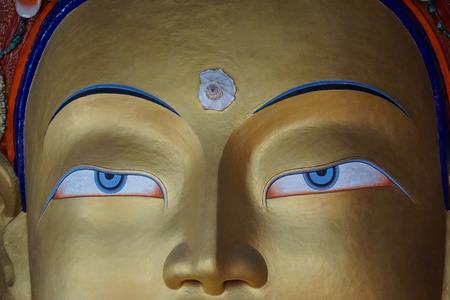 Future Buddha or Maitreya Buddha 28th at Thiksey Monastery in Ladakh, India.
