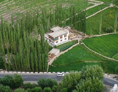 Mountain scenery in Ladakh, State of Jammu & Kashmir, India. Stock Photo