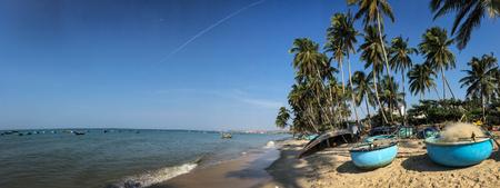 Panorama of Mui Ne beach in Phan Thiet, Vietnam.