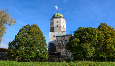 Tower of Saint Olav in Vyborg, Russia. Tower is the last remaining part of the original Vyborg castle.