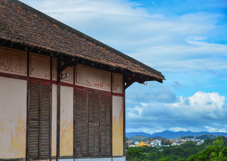 Part of ancient house in Dalat, Vietnam. The architecture of Dalat is dominated by the style of the French colonial period.
