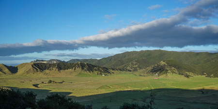Beautiful landscape of the North Island, New Zealand.