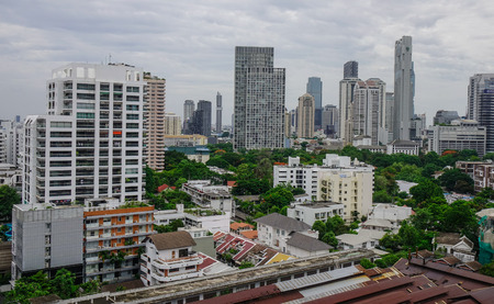 Bangkok, Thailand - Jun 18, 2017. Business district of Bangkok, Thailand. Bangkok has a population of over 8 million, or 12.6 percent of the country population. Editorial