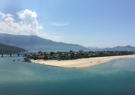 Lang Co Bay at summer day in South Coast of Vietnam.