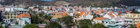 Dalat, Vietnam - May 10, 2015. Panorama view of Dalat, Vietnam. The architecture of Dalat is dominated by the style of the French colonial period.
