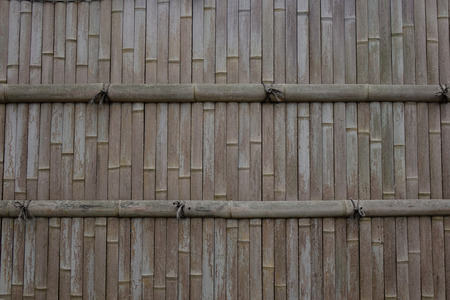 Bamboo fence of an ancient temple in Kyoto, Japan.