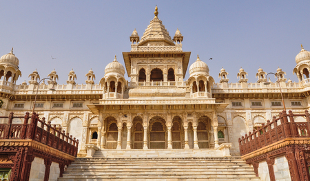 Main Hall of Jaswant Thada in Jodhpur, India. Jaswant Thada was built by Maharaja Sardar Singh of Jodhpur State in 1899. Stock Photo