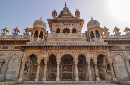 Marble Hall of Jaswant Thada in Jodhpur, India. Jaswant Thada was built by Maharaja Sardar Singh of Jodhpur State in 1899.