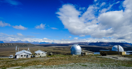 Observatory on top of Mount John in South Island of New Zealand.