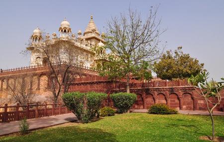 Part of Jaswant Thada in Jodhpur, India. Jaswant Thada was built by Maharaja Sardar Singh of Jodhpur State in 1899.