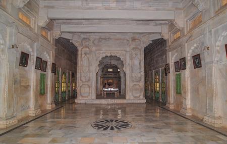 Jodhpur, India - Mar 6, 2012. Interior of Jaswant Thada in Jodhpur, India. Jaswant Thada was built by Maharaja Sardar Singh of Jodhpur State in 1899.