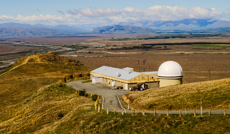 An observatory on Mount John in South Island of New Zealand.