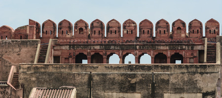 Part of Agra Fort in Agra, India. Editorial