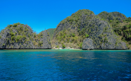 Beautiful sea at summer day in Palawan Island, Philippines.