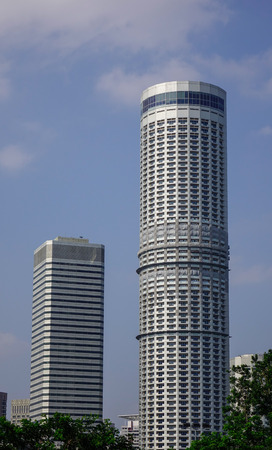 Singapore - Feb 9, 2018. Modern buildings in Singapore. The GDP value of Singapore represents 0.48 percent of the world economy.