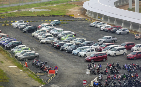 Kuala Lumpur, Malaysia - Jan 17, 2017. Car parking lot of Kuala Lumpur International Airport (KUL-KLIA) in Malaysia.