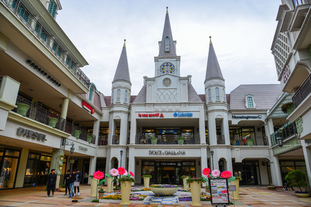 Nagoya, Japan - Mar 16, 2018. Mitsui Oulet Park in Nagoya, Japan. This is the biggest and best outlet mall shopping in Japan. Éditoriale
