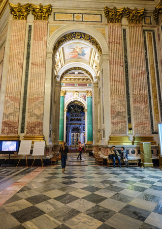 St. Petersburg, Russia - Oct 15, 2016. Interior of Saint Isaac Cathedral. The cathedral main dome rises 101.5 metres and is plated with pure gold. Editorial