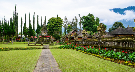 View of Ulun Danu Temple at summer day in Bali, Indonesia.