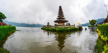 Bali, Indonesia - May 5, 2016. Pura Ulun Danu Beratan (Temple of Water) on Lake Bratan with forest background in Bali, Indonesia. Editorial