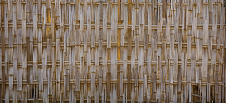 Bamboo fence of rural house in Bagan, Myanmar. Banco de Imagens