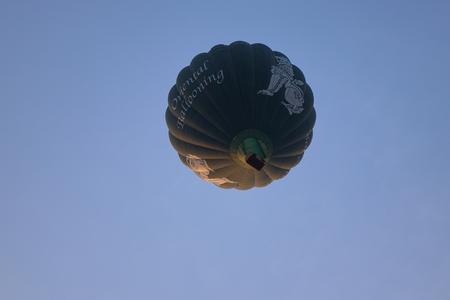 Bagan, Myanmar - Feb 19, 2016. Hot air balloons flying over the temples in Bagan, Myanmar. Hot air balloon ride in Bagan is the most popular tourist activity in Bagan. Editöryel