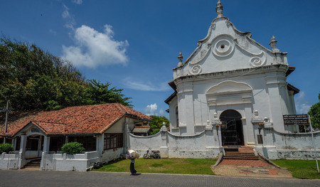 Galle, Sri Lanka - Sep 9, 2015. Old churches in Galle, Sri Lanka. Galle was the main port on the island in the 16th century.