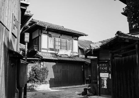 Kyoto, Japan - Apr 7, 2014. Old Town in Kyoto, Japan. Kyoto was the Imperial capital of Japan for more than one thousand years. 報道画像
