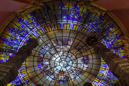 Bangkok, Thailand - Apr 22, 2018. Interior of the Erawan Museum in Bangkok, Thailand. The Museum is the art of gigantic architecture.
