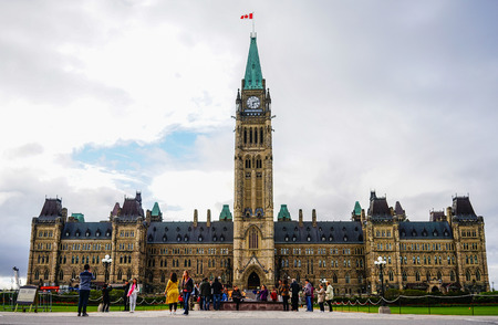 Ottawa, Canada - May 15, 2017. Parliament of Canada building in the heart of Canadian capital Ottawa city. Editorial