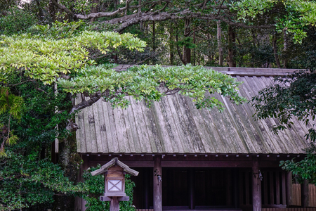 Part of Ise Shrine (Ise Jingu) in Nagoya, Japan. The Shrine is Japan most sacred Shinto shrine and dates back to the 3rd Century.