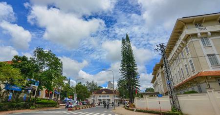 Dalat, Vietnam - Nov 27, 2017. Street in Dalat, Vietnam. Da Lat was developed as a resort by the French in the early 1900s. Editoriali