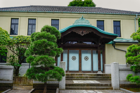 Tokyo, Japan - Jul 18, 2015. Sengakuji Temple in Tokyo, Japan. Sengaku-ji was one of the three major temples of old Edo (now Tokyo). 報道画像