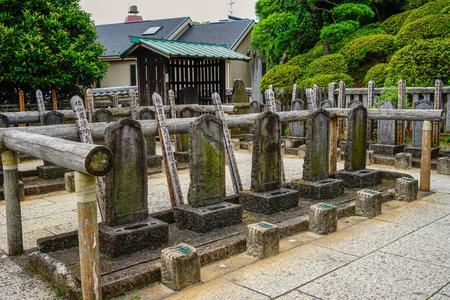 2015年7月18日、東京、東京の仙学寺の墓。尖閣寺は、古い「東京都」の三大寺院の一つであった。