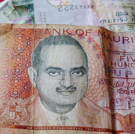 Mauritius Rupee (MUR) billnotes with portrait. Money background. Stock Photo - 106568912