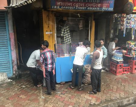 Kolkata, India - Jul 8, 2015. People on street in Kolkata, India. Kolkata (formerly Calcutta) is the capital of India West Bengal state. Stock Photo - 108214194